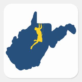 Sticker Carré Escalade de la Virginie Occidentale