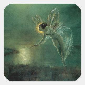 Sticker Carré Esprit de la nuit par Grimshaw, fée victorienne