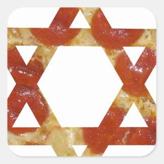 Sticker Carré étoile de David de pizza