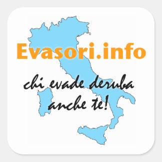 Sticker Carré Evasori.info : grandi d'adesivi