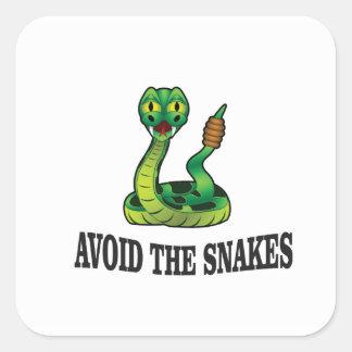 Sticker Carré évitez les serpents