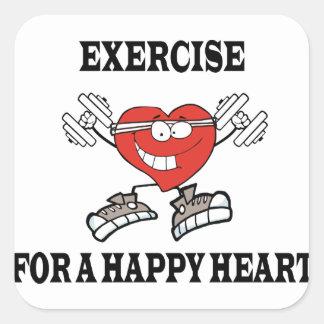 Sticker Carré exercice heart2