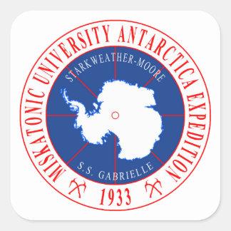 Sticker Carré Expédition en second lieu antarctique d'université