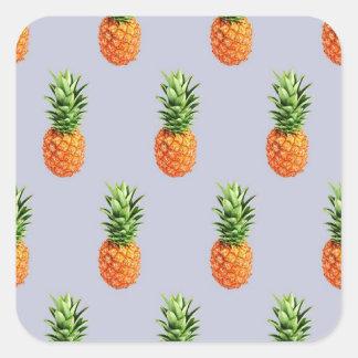 Sticker Carré Express d'ananas