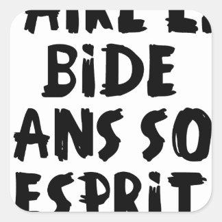 Sticker Carré Faire le BIDE dans son ESPRIT - Jeux de Mots