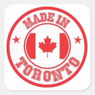 Sticker Carré Fait à Toronto