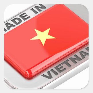 Sticker Carré Fait dans l'insigne brillant du Vietnam
