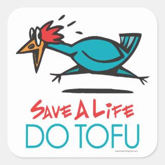 Sticker Carré Faites le végétarien de végétalien de tofu