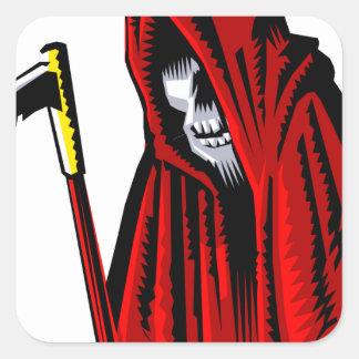Sticker Carré Faucheuse