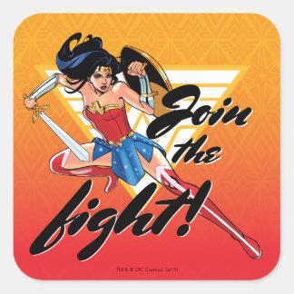 Sticker Carré Femme de merveille avec l'épée - joignez le combat