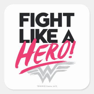 Sticker Carré Femme de merveille - combat comme un héros