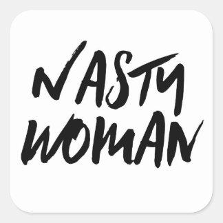 Sticker Carré Femme méchante