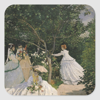 Sticker Carré Femmes de Claude Monet | dans le jardin, 1866