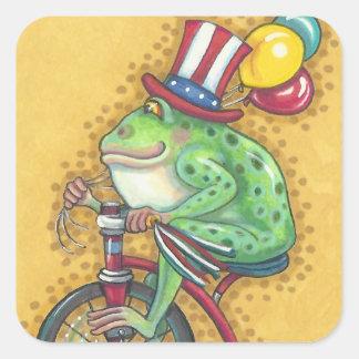 Sticker Carré Feuille AMERICANA d'AUTOCOLLANT de GRENOUILLE de