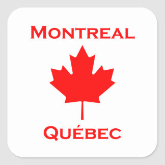 Sticker Carré Feuille d'érable de Montréal Québec