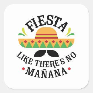 Sticker Carré Fiesta