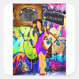 Sticker Carré Fille de Calliope