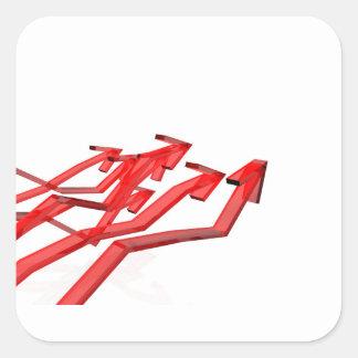 Sticker Carré Flèches rouges