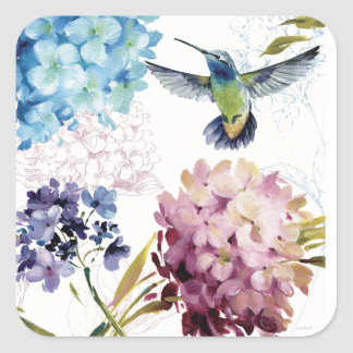 Sticker Carré Fleurs de ressort