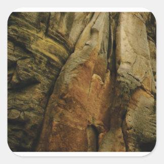 Sticker Carré forme et forme de roche