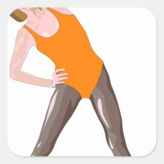 Sticker Carré forme physique 80s