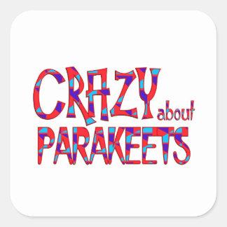 Sticker Carré Fou au sujet des perruches