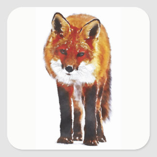 Sticker Carré Fox rouge