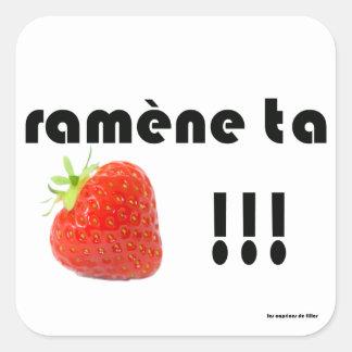 Sticker Carré fraise