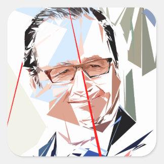 Sticker Carré François Hollande