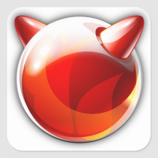 Sticker Carré FreeBSD
