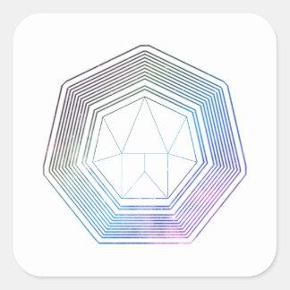 Sticker Carré Galaxie de polygone
