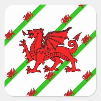 Sticker Carré Gallois barre le drapeau