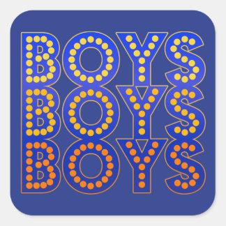 Sticker Carré Garçons de garçons de garçons