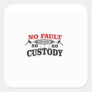 Sticker Carré garde 50 du divorce 50 de marteau