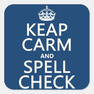 Sticker Carré Gardez le calme et le contrôle de charme (avec