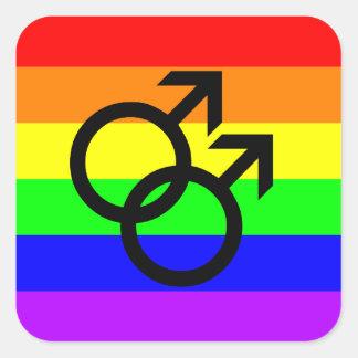Sticker Carré Gay pride