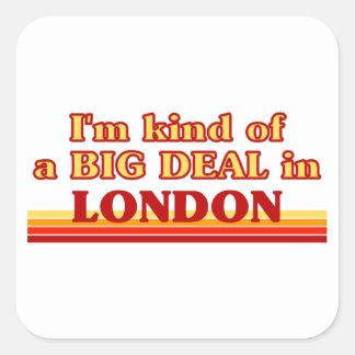 Sticker Carré Genre d'I´m d'affaire à Londres