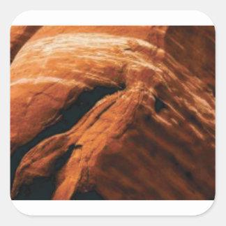Sticker Carré gonflement de la roche rouge