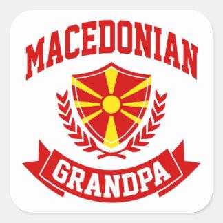 Sticker Carré Grand-papa macédonien