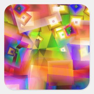 Sticker Carré Graphique-art coloré