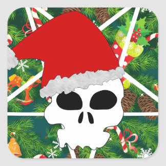 Sticker Carré grêle père Noël