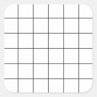 Sticker Carré grille noire,    arrière - plan blanc