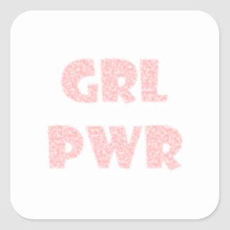 Sticker Carré grl pwr7