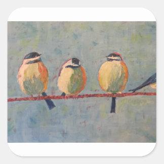 Sticker Carré Gros oiseaux