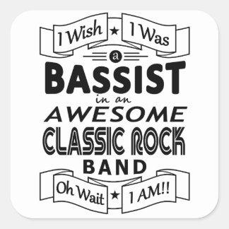 Sticker Carré Groupe de rock classique impressionnant de