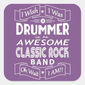 Sticker Carré Groupe de rock classique impressionnant de BATTEUR