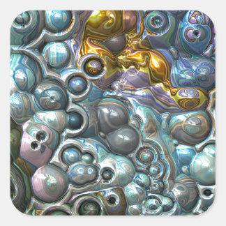 Sticker Carré Groupes 3D colorés