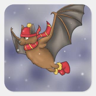 Sticker Carré Gryffindor a inspiré la chauve-souris d'hiver