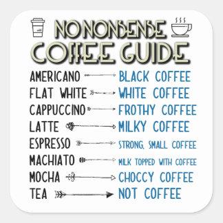 Sticker Carré Guide de café