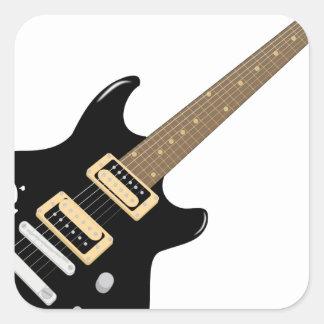 Sticker Carré Guitare électrique